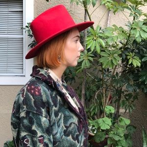 Vintage red wool hat